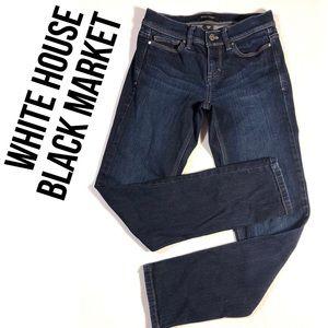 White House Black Market Noir Slim Ankle Jeans 00
